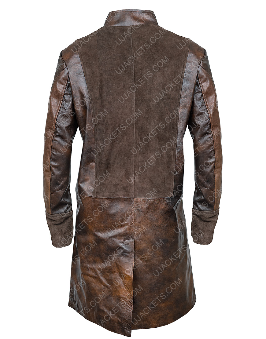 Lionel Erdogan Brown Leather La Revolution Coat