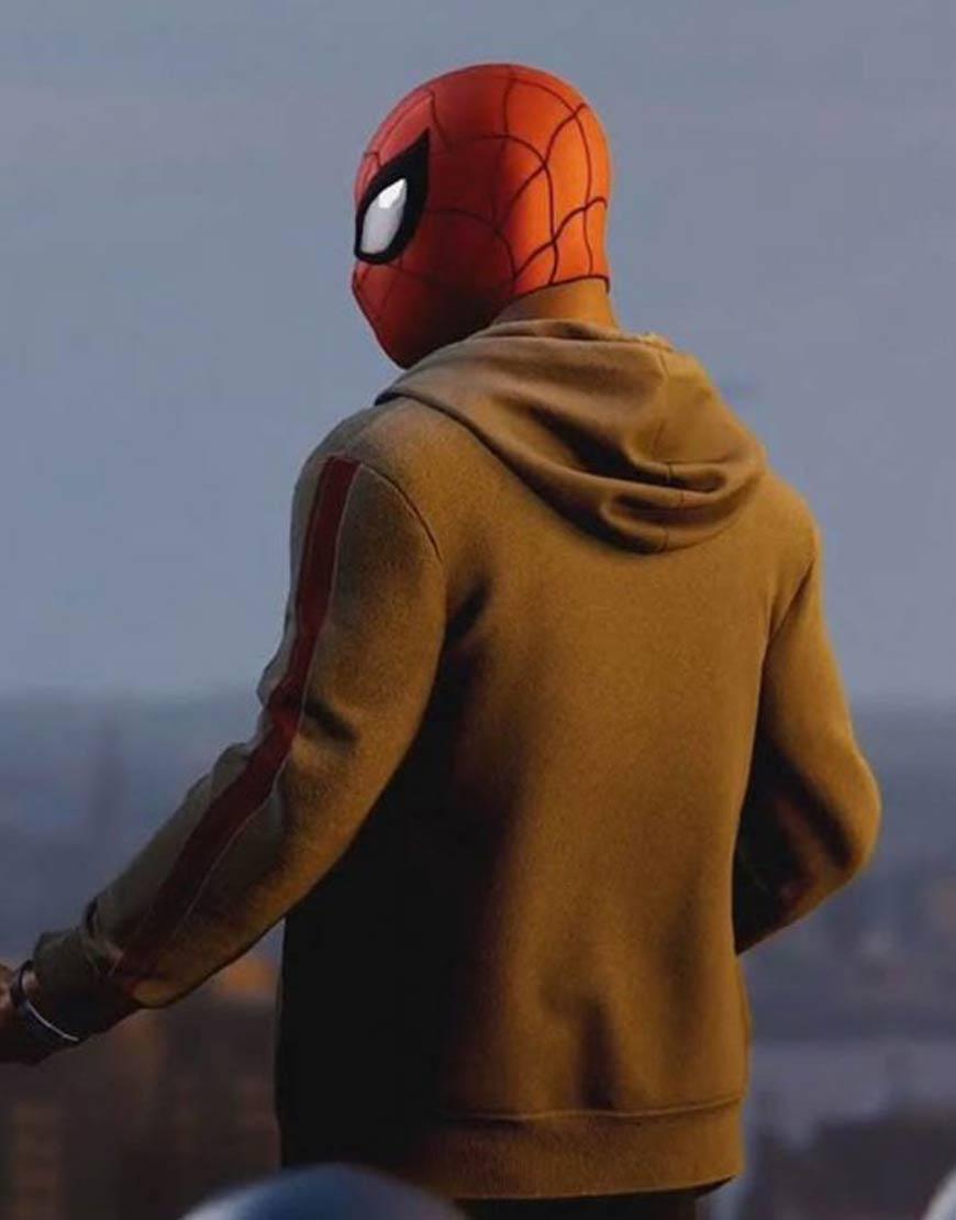 Marvel-Spider-Man-Miles-Morales-Brown-Zipper-Hoodie