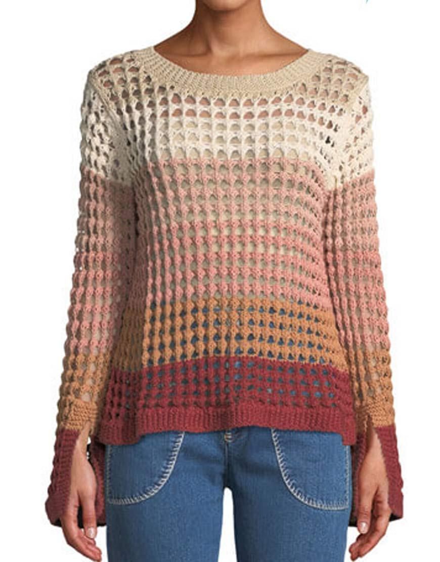 Mavel's-Runaways-Karolina-Dean-Open-Knit-Sweater