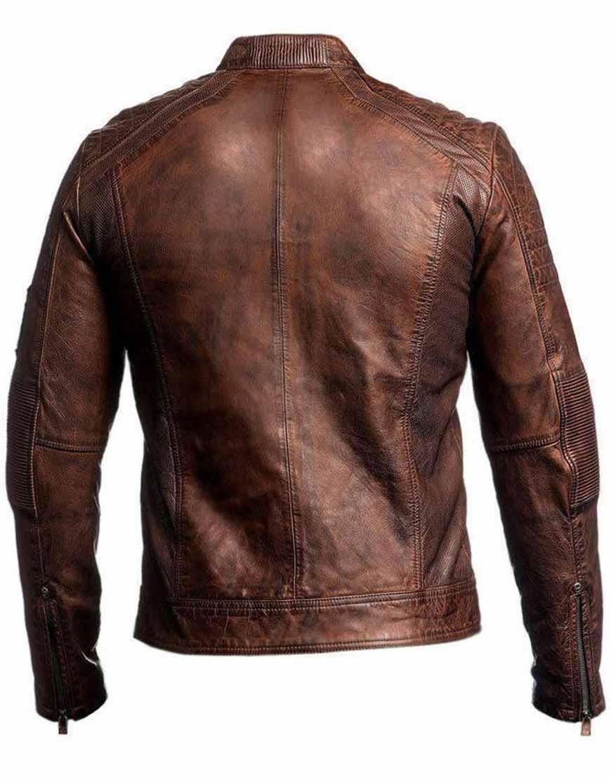Mens-Biker-Vintage-Motorcycle-Distressed-Brown-Cafe-Racer-Leather-Jacket