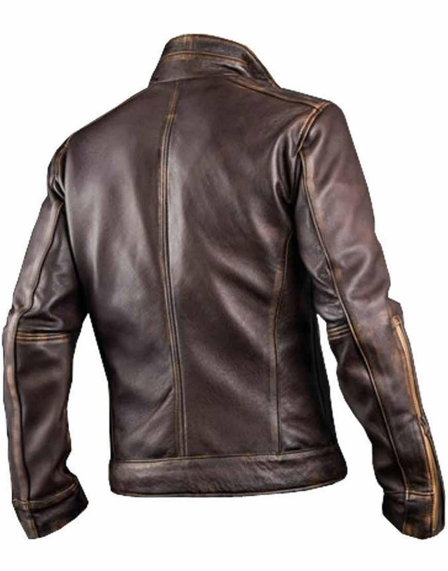 Mens-Cafe-Racer-Stylish-Biker-Brown-Leather-Jacket