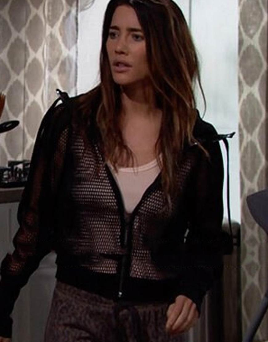 On-The-Bold-And-The-Beautiful-Steffy-Forrester-Mesh-Jacket