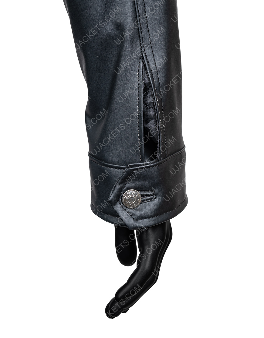 Percy Jackson Sea of Monsters Black Leather Jacket