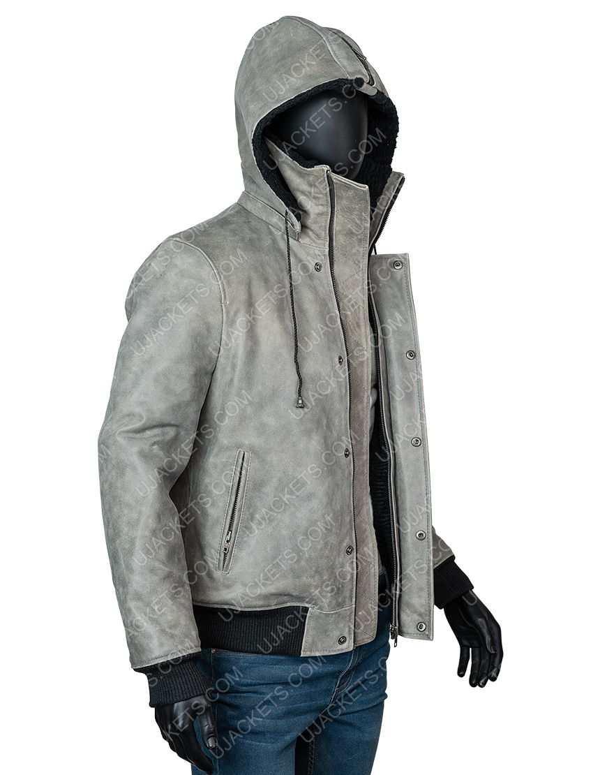 Power Book II Ghost Michael Rainey Grey Sherpa Jacket
