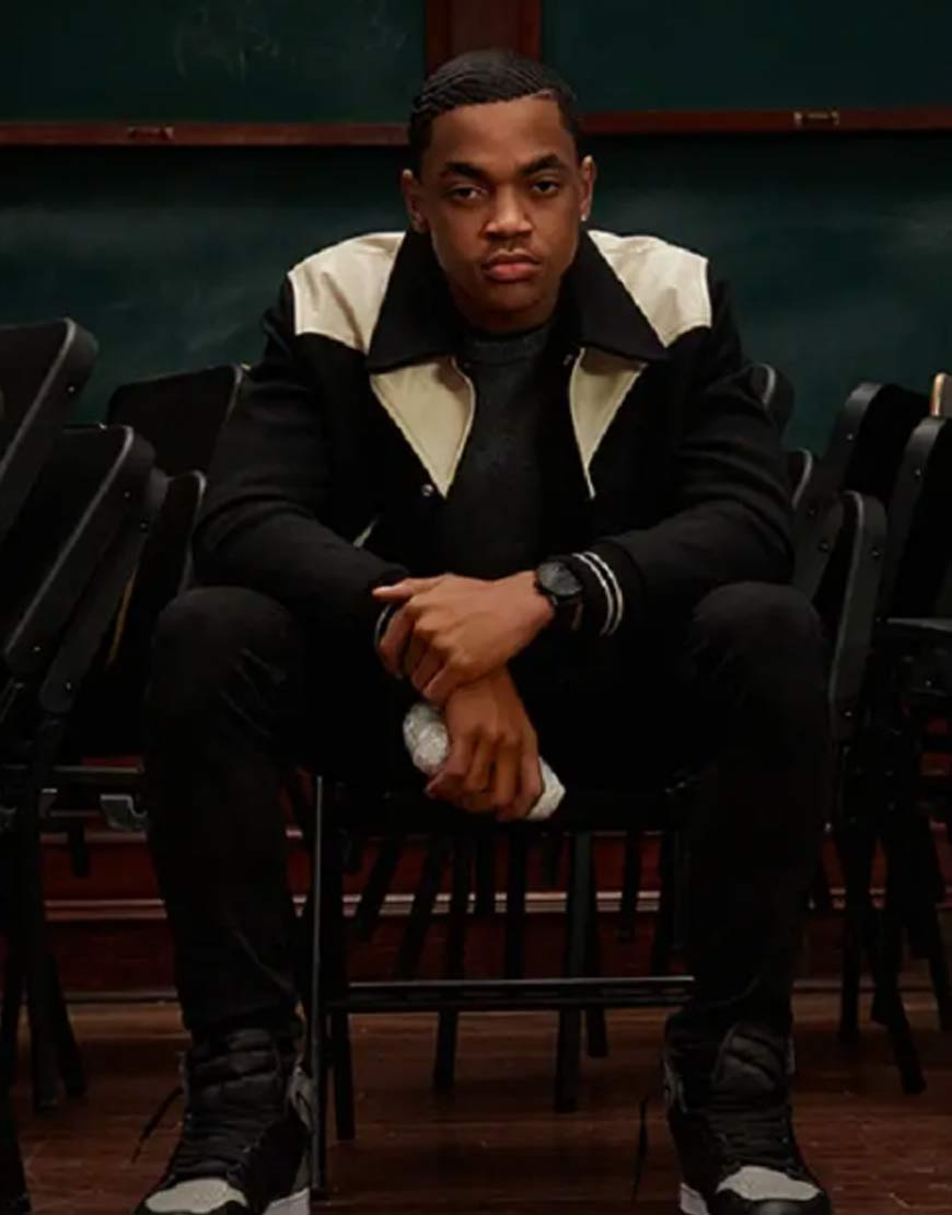 Power-Book-II-Ghost-Michael-Rainey-Jr-Black-Varsity-Jacket