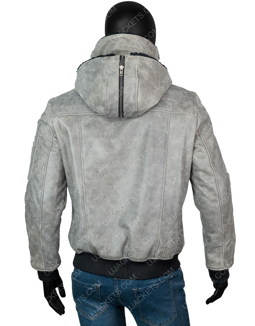 Power Book II Ghost Michael Rainey Jr. Grey Sherpa Jacket