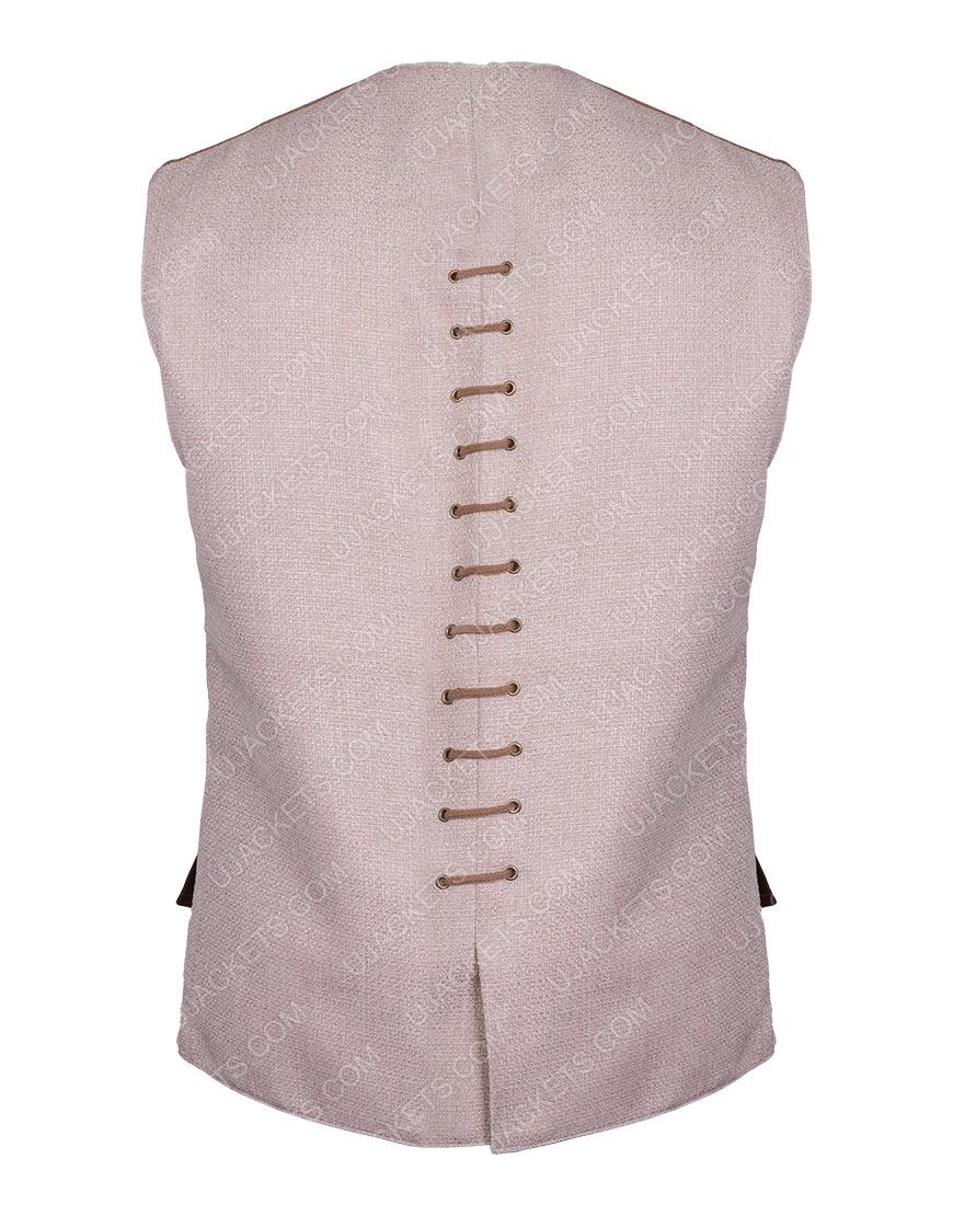 Sam Heughan Outlander Season 03 Jamie Fraser Brown Vest