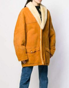 Scarlett-Suede-Leather-Mid-Length-Shearling-Coat