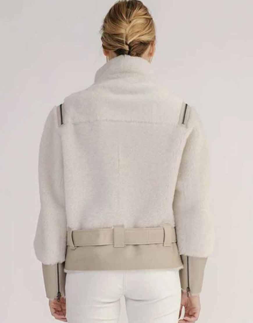 Shearling-Short-Biker-Jacket-With-Leather-Belt