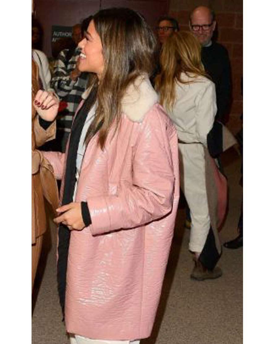 Sundance-Film-Festival-Gina-Rodriguez-Pink-Coat