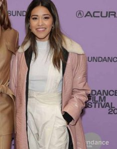 Sundance-Film-Festival-Gina-Rodriguez-Pink-Leather-Coat
