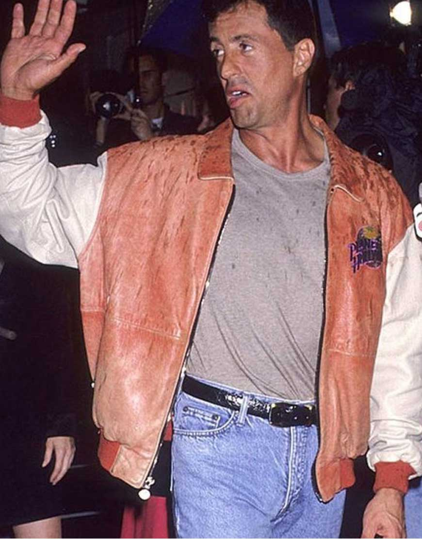 Sylvester-Stallone-Planet-Hollywood-Bomber-Leather-Jacket