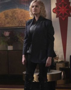 The-100-Season-7-clarke-griffin-wool-Coat