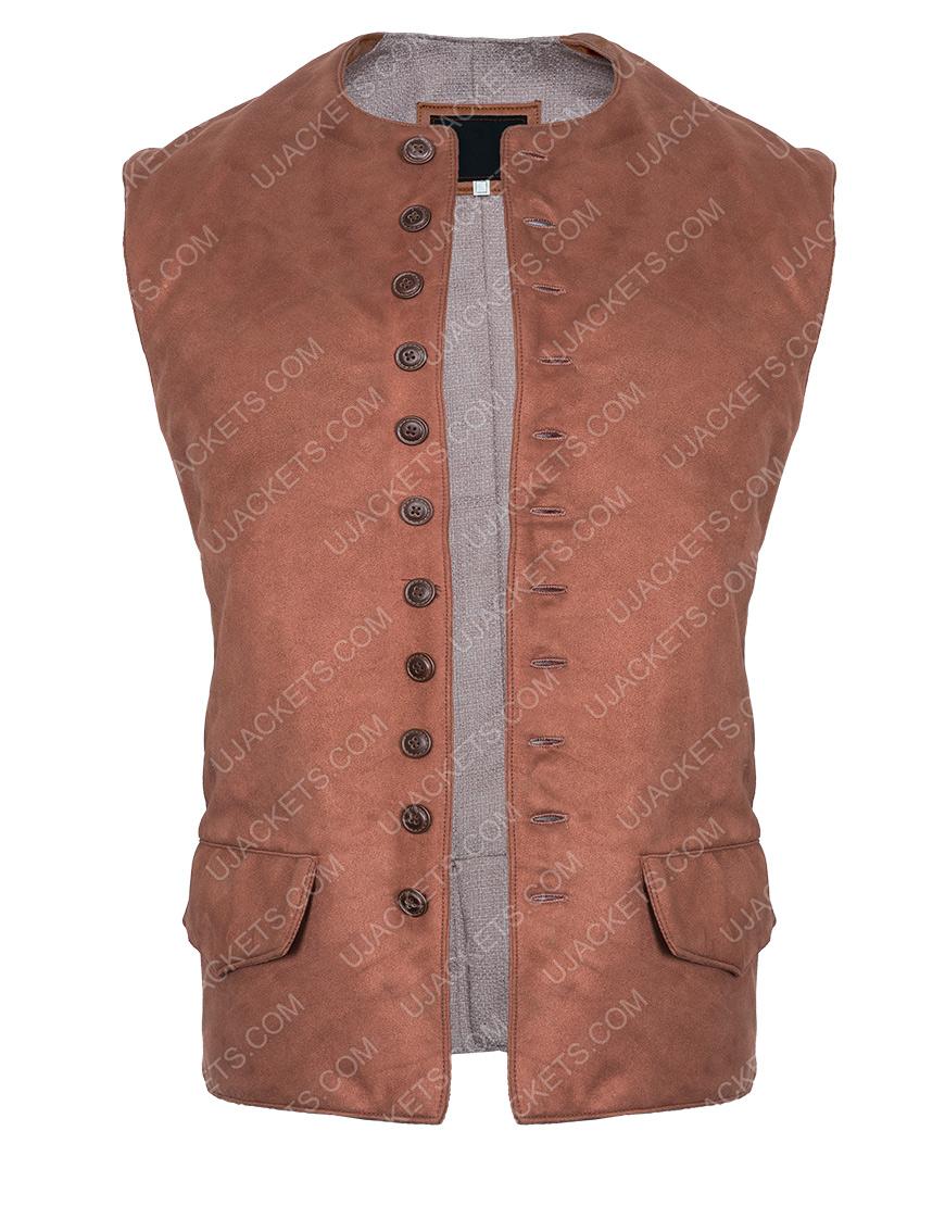 am Heughan Outlander Season 03 Jamie Fraser Brown Vest