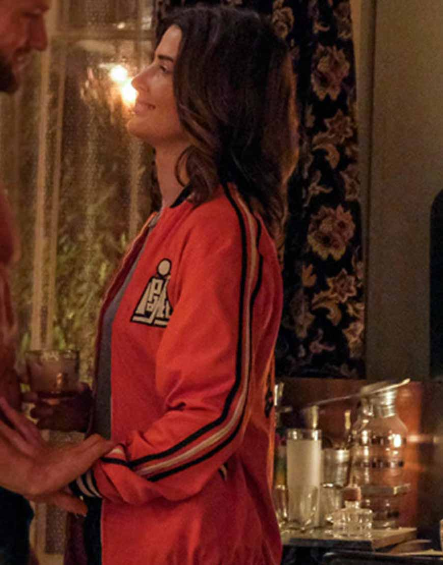 stumptown-s02-cobie-smulders-bomber-orange-jacket