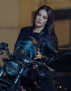 Çukur-S04-Seren-Erdenet-Black-Leather-Jacket