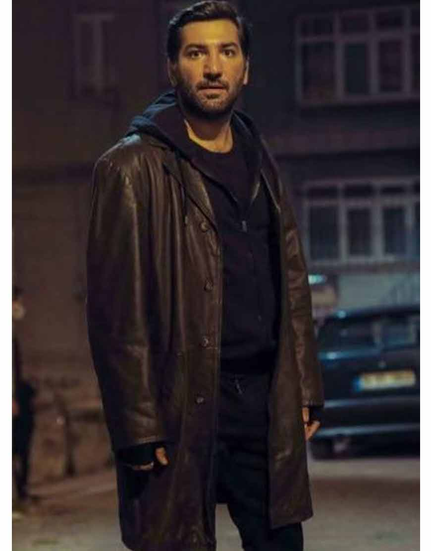 Çukur-Season-4-Berkay-Ates-Black-Leather-Coat