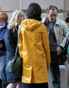A-Rainy-Day-in-New-York-Elle-Fanning-Yellow-Leather-Coat