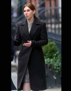 Annie-The-Flight-Attendant-Zosia-Mamet-Black-Coat