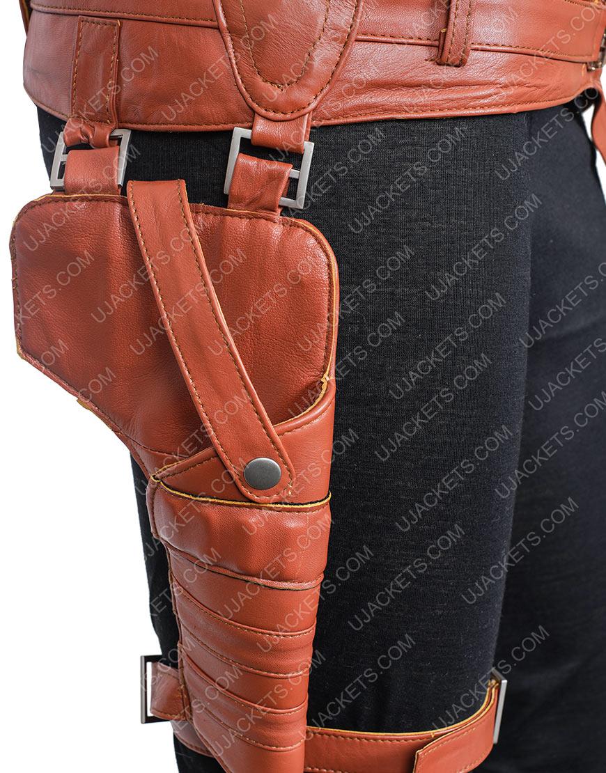 Avengers Endgame Karen Gillan Nebula Brown Jacket