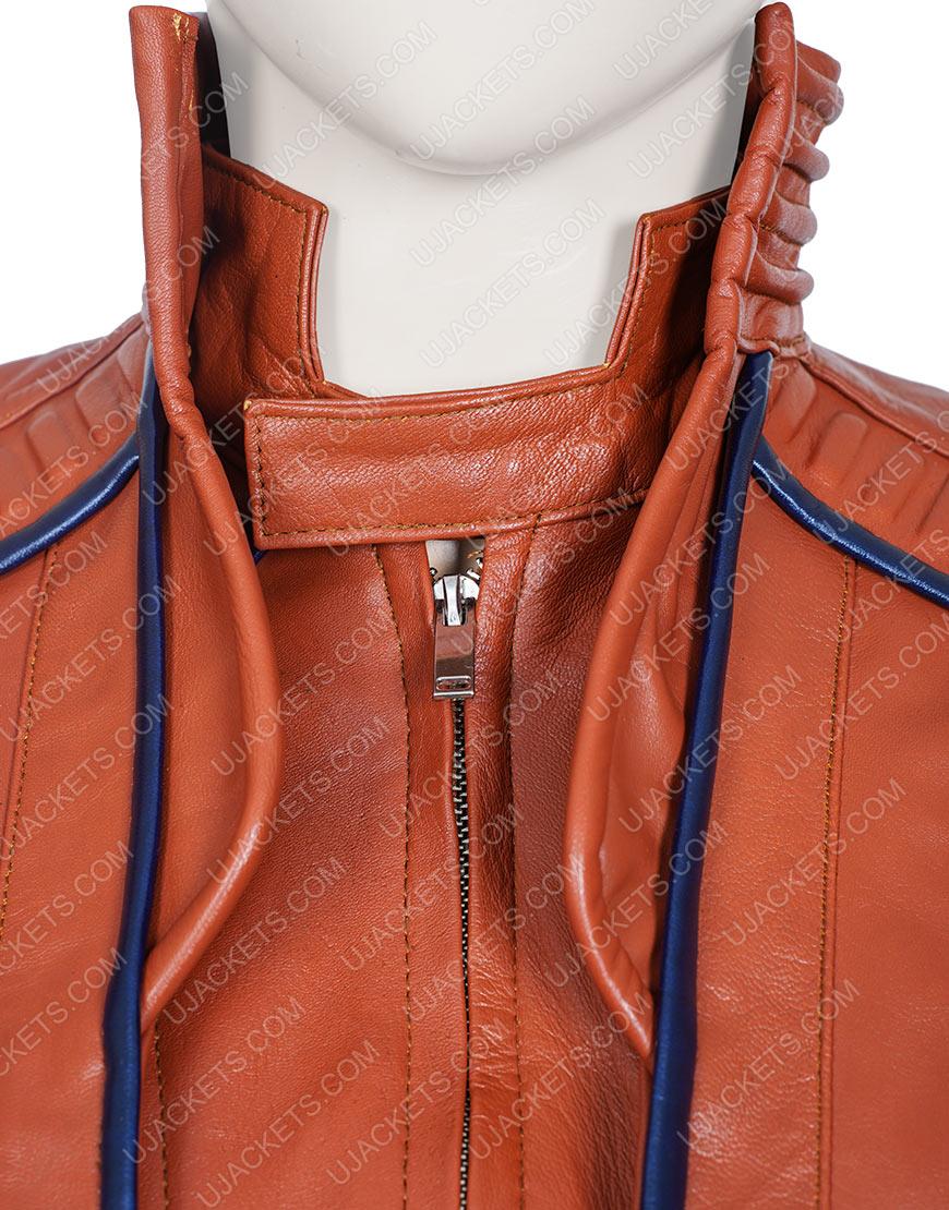 Avengers Endgame Karen Gillan Nebula Brown Leather Jacket