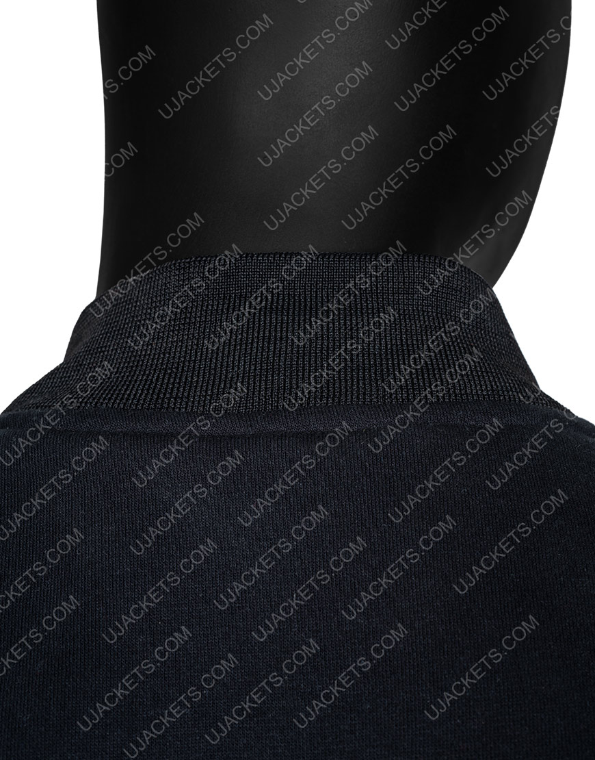 Black Klux Buster Bomber Jacket Collar