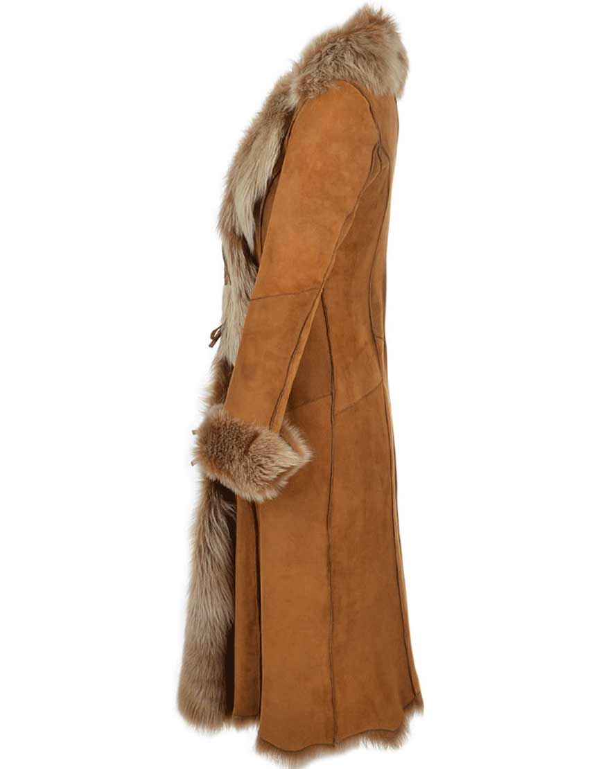 Brown-Suede-Leather-Novah-Long-Trench-Coat