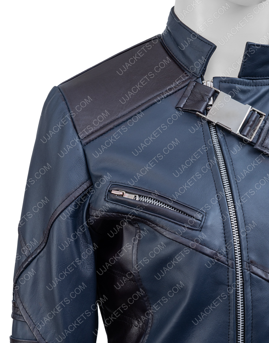 Bucky Barnes The Falcon And The Winter Soldier Black Leather Jacket