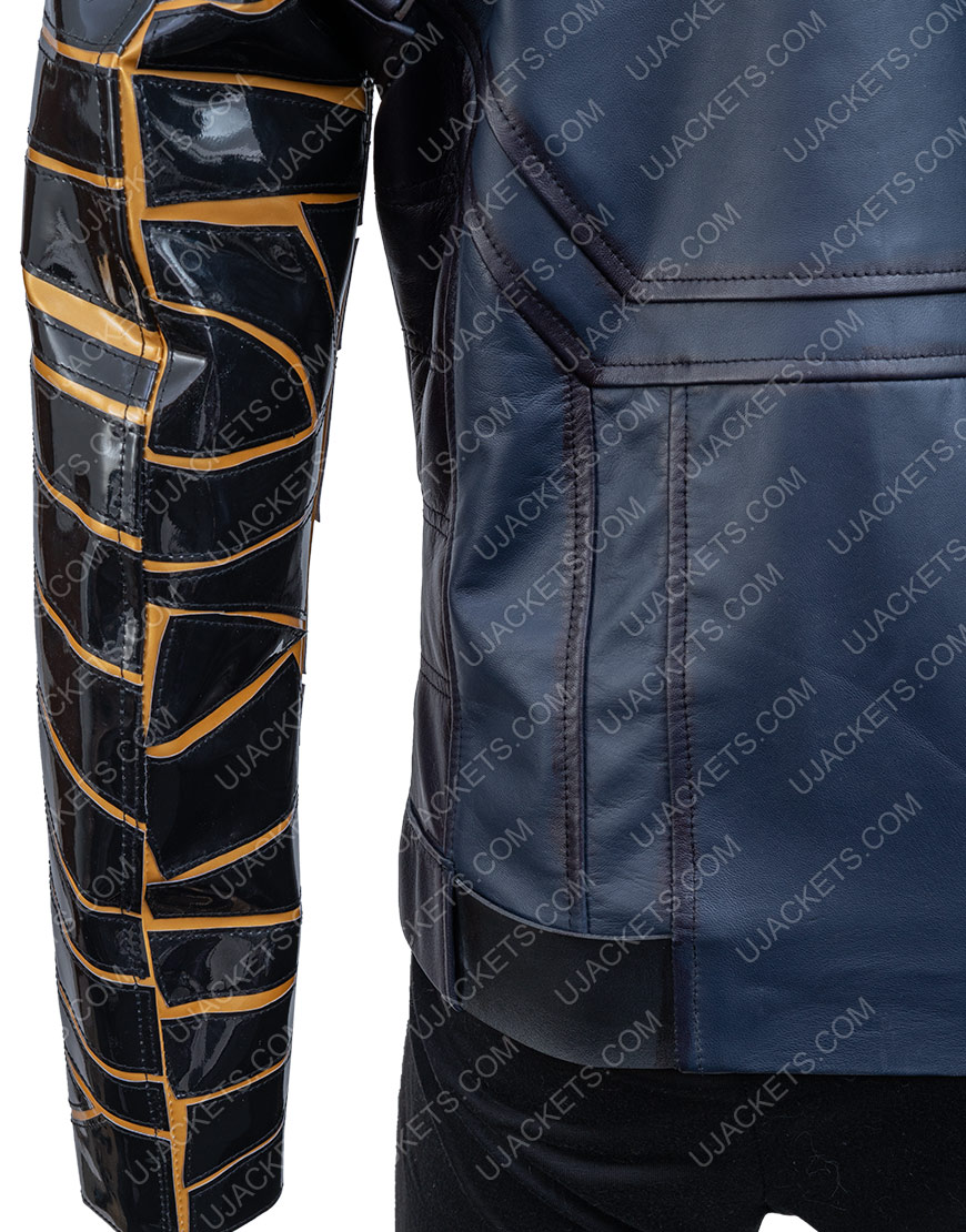 Bucky Barnes The Falcon And The Winter Soldier Sebastian Stan Black Jacket