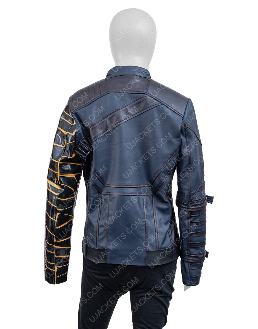 Bucky Barnes The Falcon And The Winter Soldier Sebastian Stan Black Leather Jacket