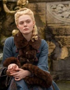 Catherine-The-Great-Elle-Fanning-Blue-Coat-With-Faux-Fur-Trim