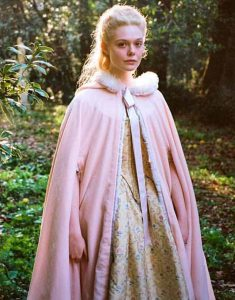 Catherine-The-Great-Elle-Fanning-Pink-Cloak-With-White-Fur-Trim