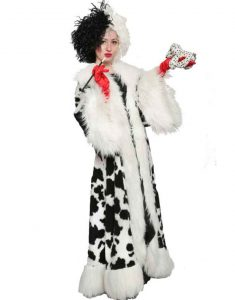 Cruella-Deville-Black-Dot-White-Fur-Long-Coat