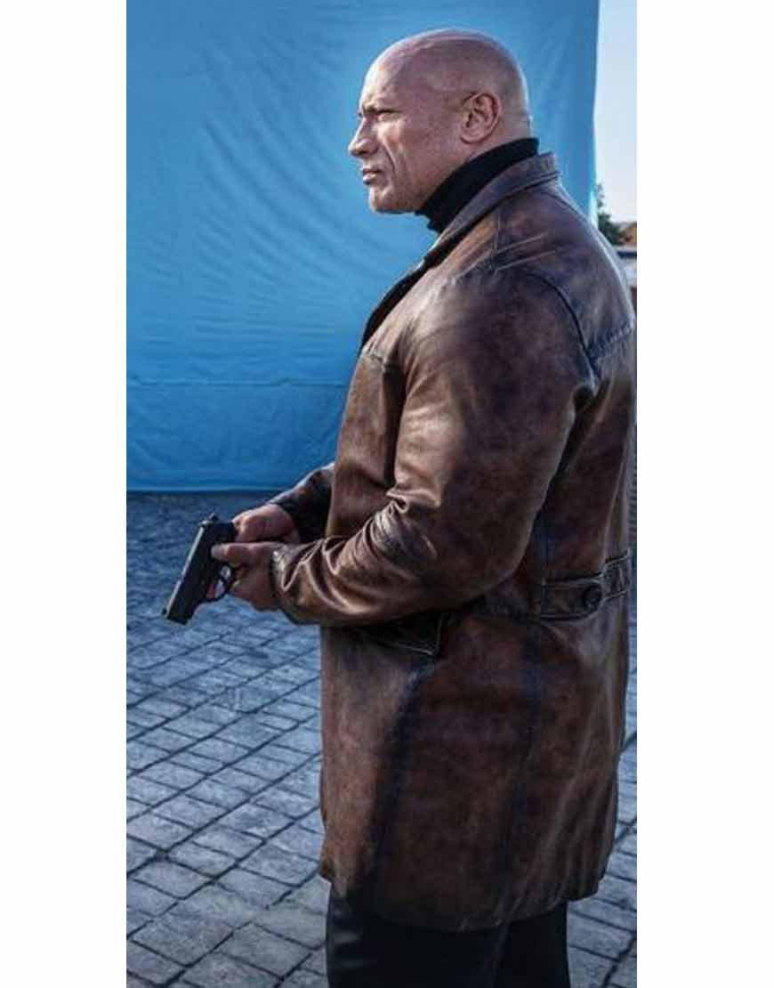 Dwayne-Johnson-Red-Notice-Brown-Leather-Coat
