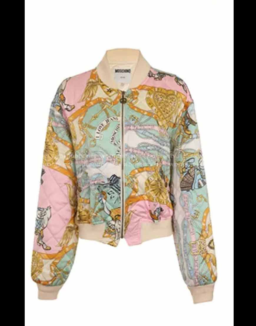 Emily-In-Paris-Brooklyn-Clark's-Printed-Bomber-Jacket