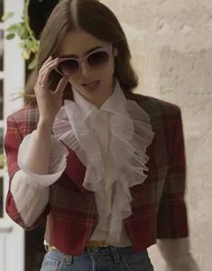 Emily-In-Paris-Emily-Cooper-Red-Plaid-Jacket