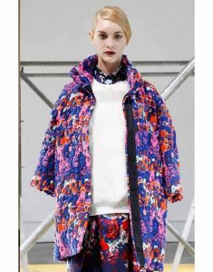 Emily-In-Paris-Lily-Collins-Blue-Floral-Coat