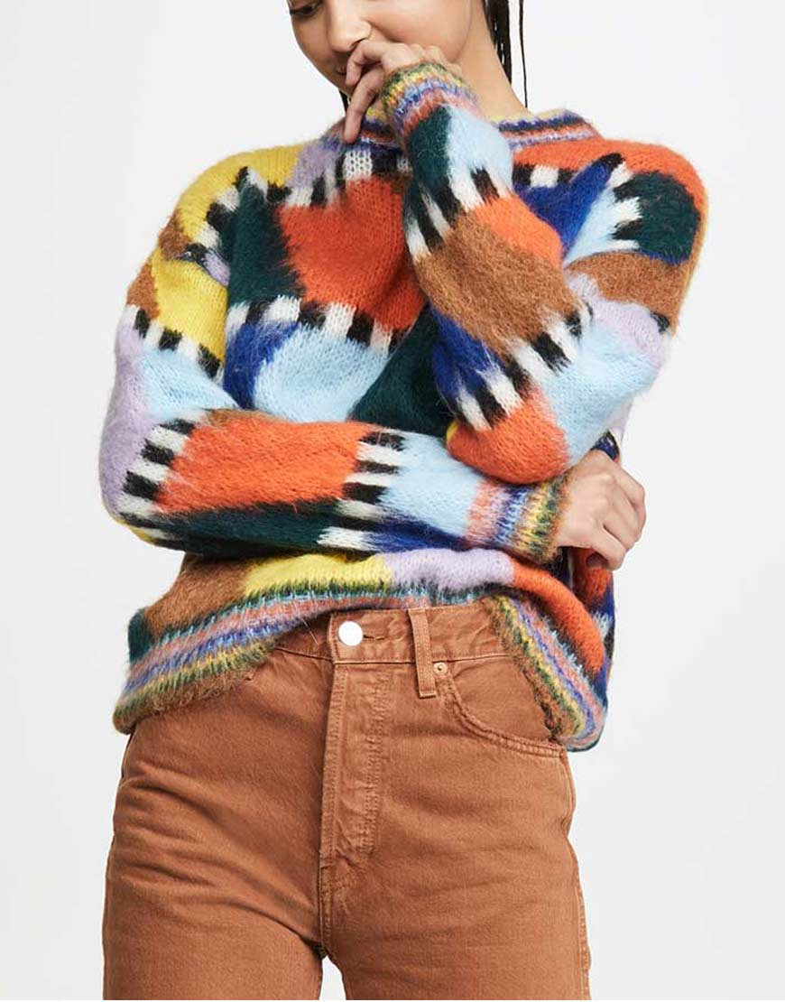 Emily-In-Paris-Lily-Collins-Colorful-Sweater