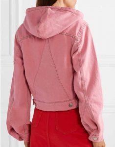 Emily-In-Paris-Lily-Collins-Pink-Denim-Jacket