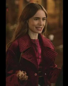 Emily-In-Paris-Lily-Collins-Velvet-Jacket