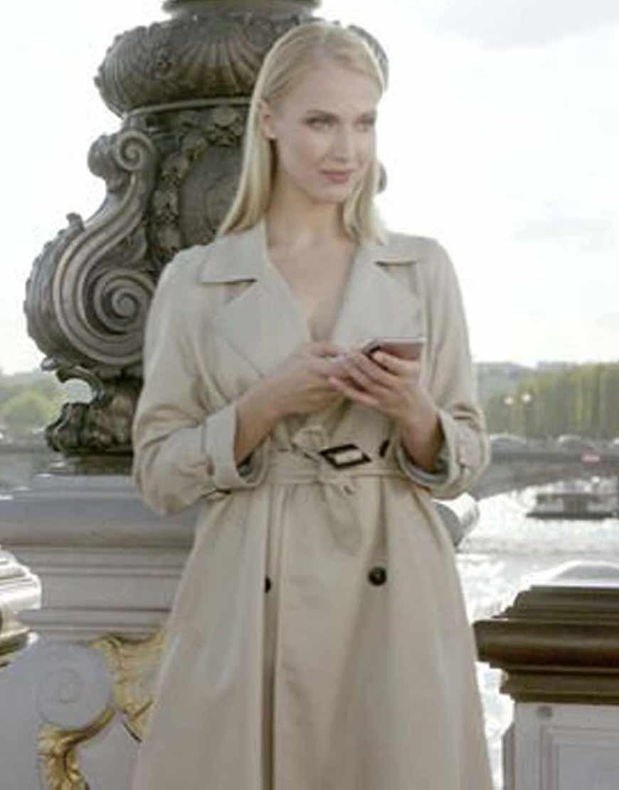 Emily-in-Paris-Camille-Razat-Belted-Trench-Coat