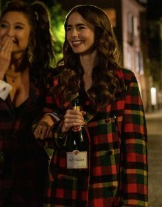 Emily-in-Paris-Emily-Cooper-Checkered-Coat