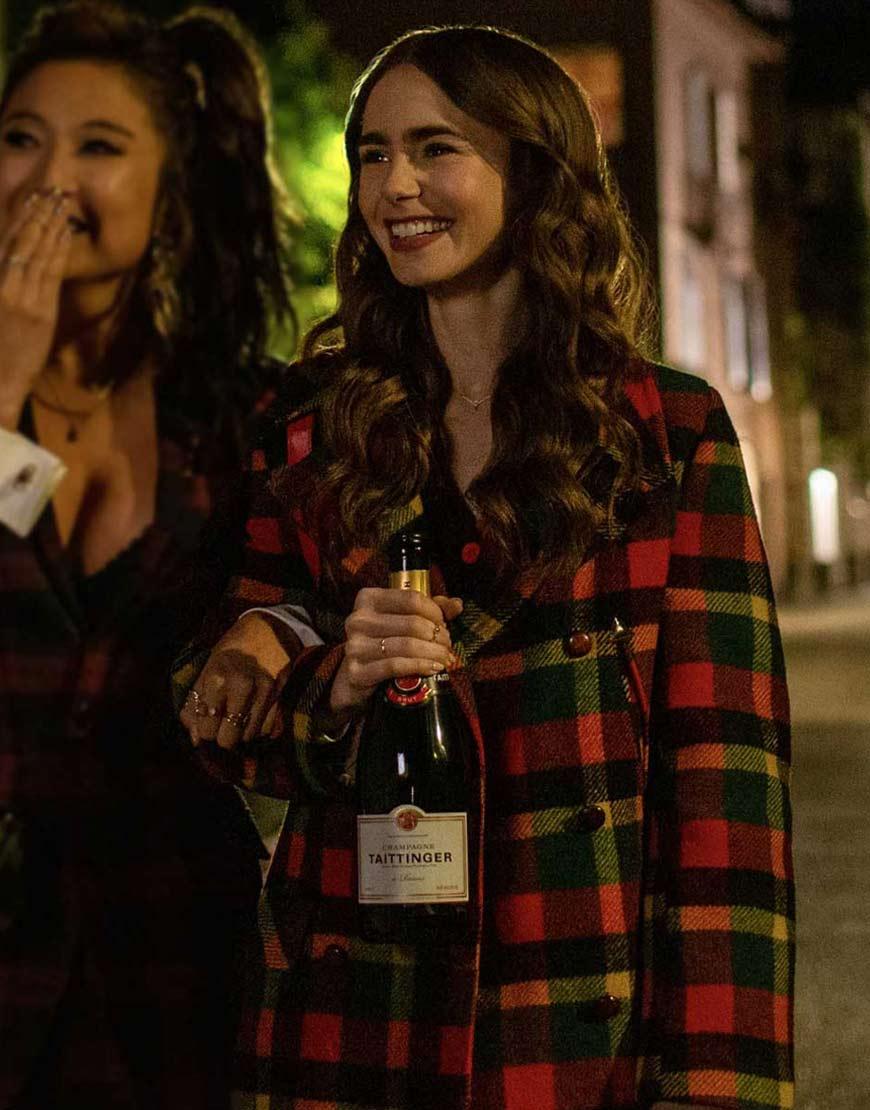 Emily-in-Paris-Emily-Cooper-Checkered-Coat