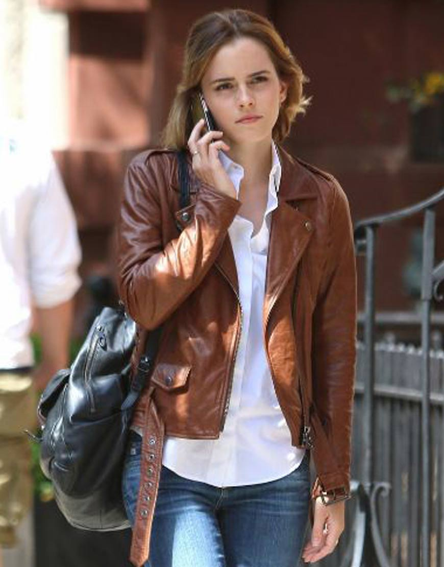 Emma-Watson-Leather-Jacket