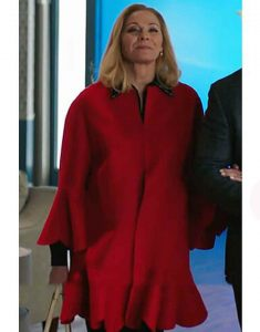 Filthy-Rich-Kim-Cattrall-Red-Coat