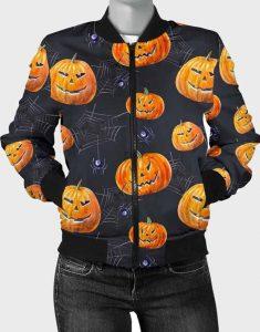 Halloween-Pumpkin-Bomber-Jacket