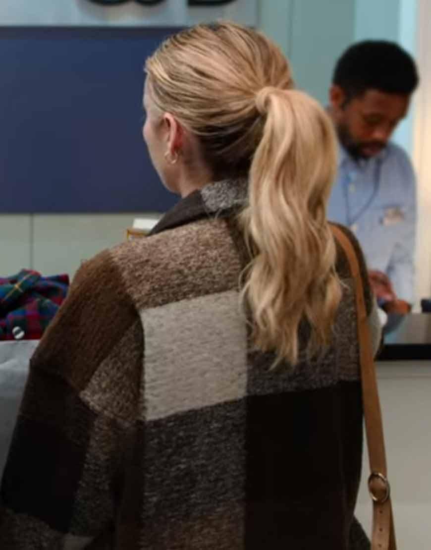 Holidate Emma Roberts Plaid Jacket Sloane Brown Plaid Jacket