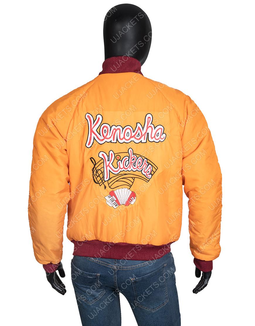 Home Alone Kenosha Kickers Men's Yellow Satin Jacket