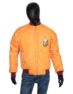 Home Alone Kenosha Kickers Yellow Satin Jacket For Men