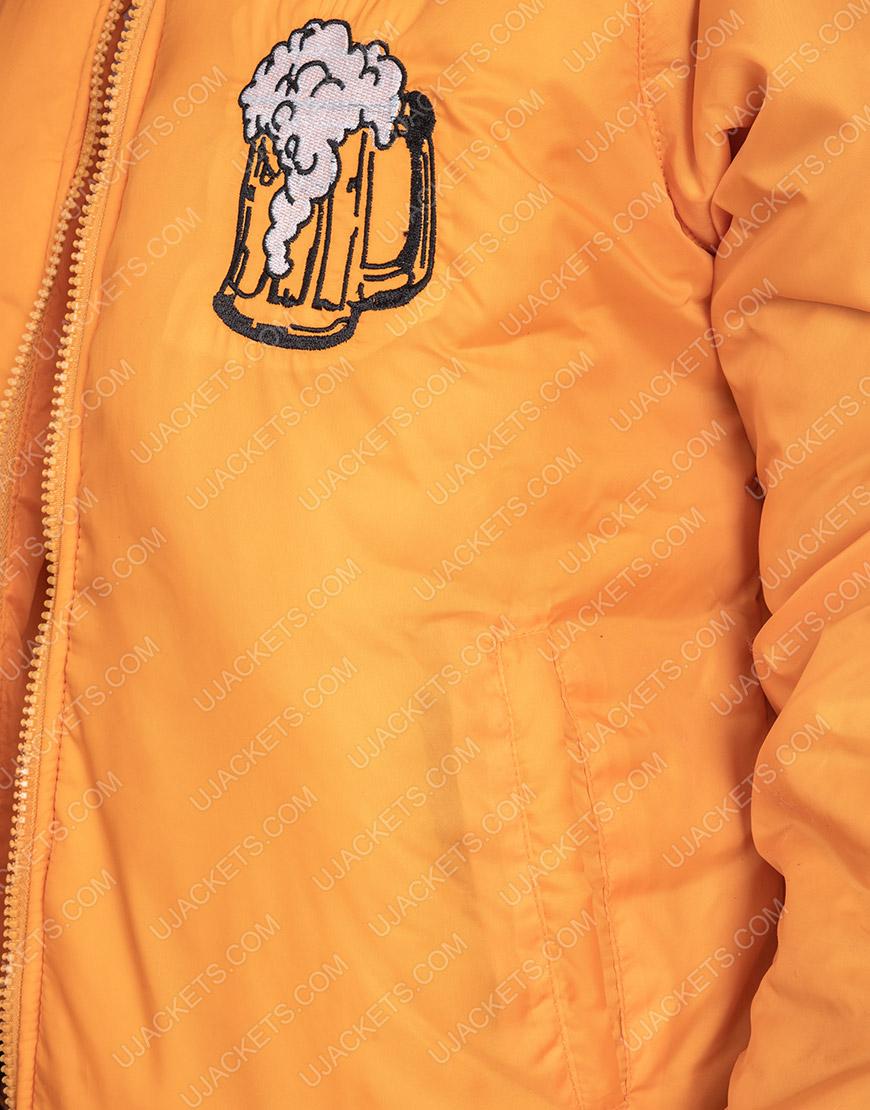 Home Alone Kenosha Yellow Satin Jacket For Men